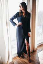 Load image into Gallery viewer, SALE - NOËL NAVY SATIN MAXI