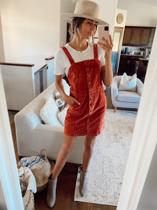 PUMPKIN PATCH CORDUROY OVERALL DRESS