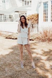 HAYDEN STRIPED ROMPER