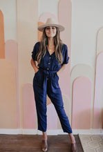 Load image into Gallery viewer, REESE NAVY JUMPSUIT