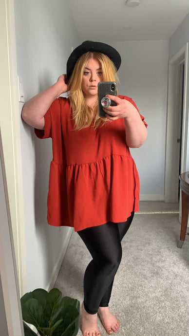 MARGOT PEPLUM TOP (S-XXXL)