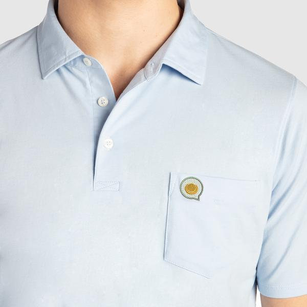 The Fried Egg Batik Liam Polo by B. Draddy