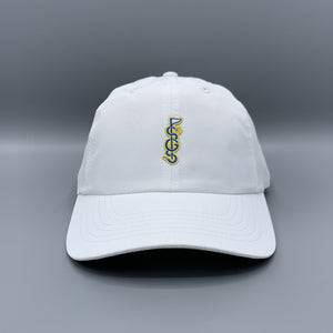 Shotgun Start Script Logo XL White Hat