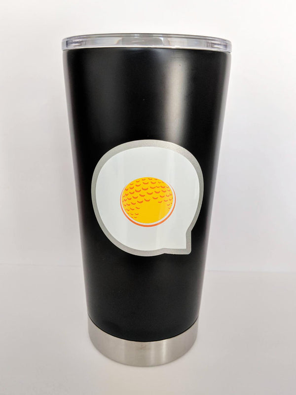 The Fried Egg Matte Black Tumbler