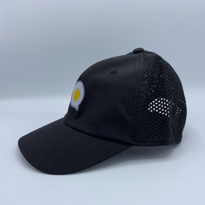 The Fried Egg Black Mesh Performance Hat