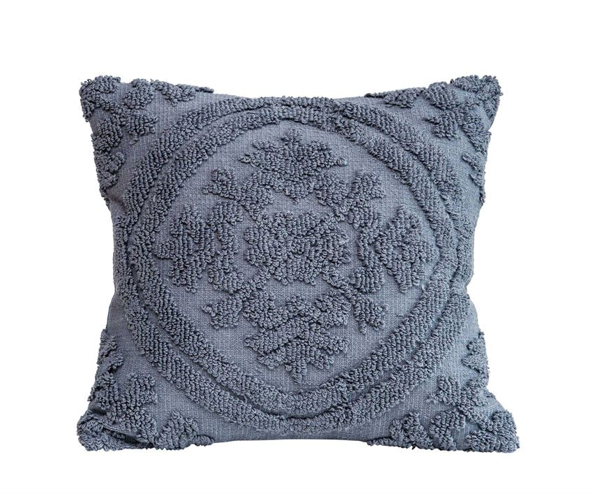 Anna Chenille Pillow Gray