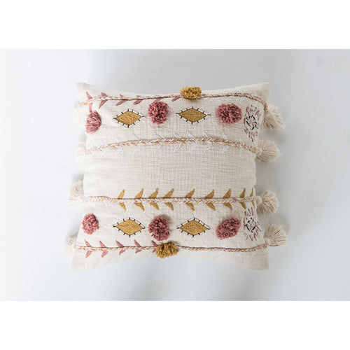 Lilly Boho Pillow with Tassels - Urban Farmhouse Market