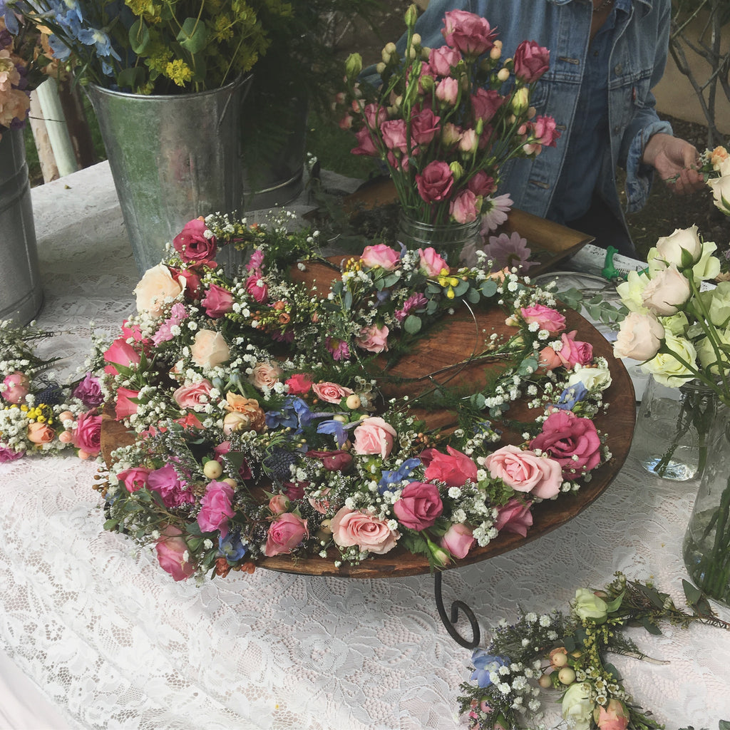 Fresh Flower crown, flower crowns, flower crown popup, flower bar, flower crown los angeles, fresh flower crown station