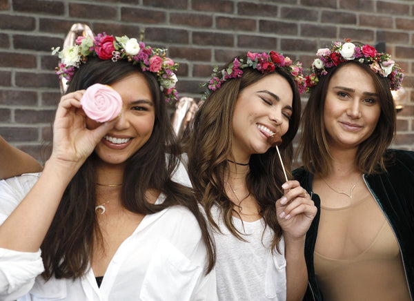 Flower Crowns Los Angeles, Fresh Flower Crown, Flowercrown Bar Los Angeles, Malibu flowers