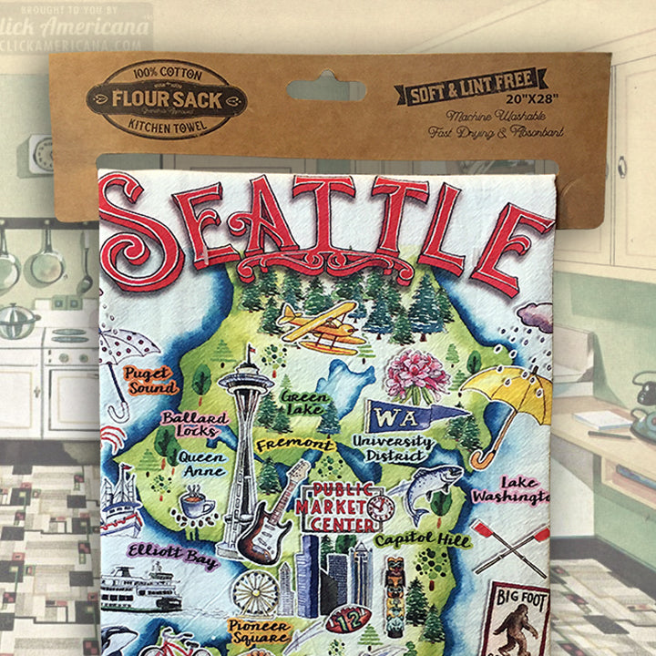 Seattle Dish Towel