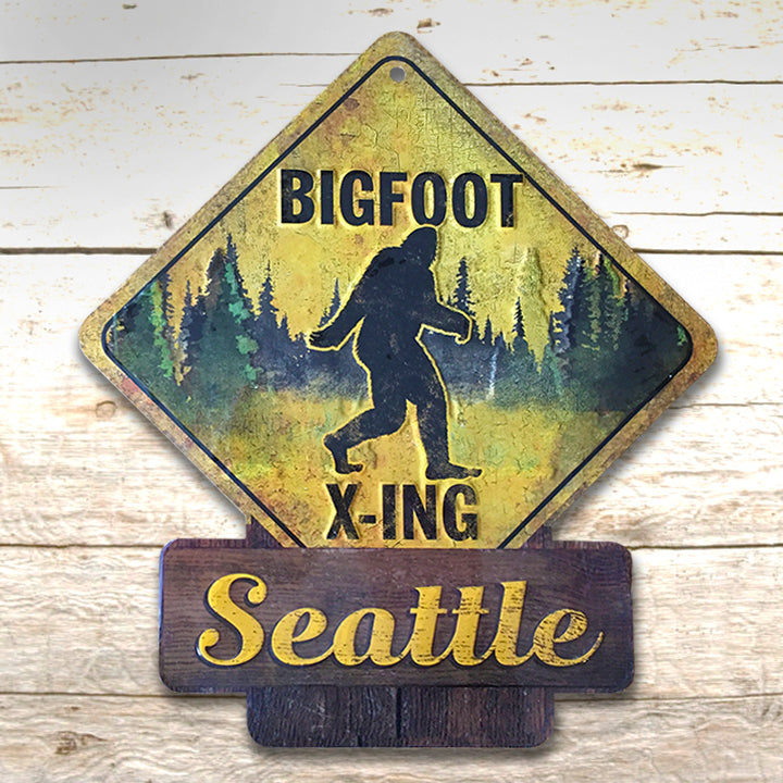 Bigfoot Metal Sign