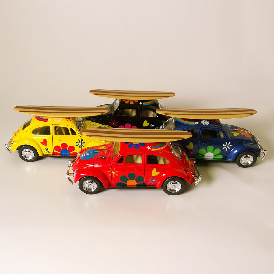 VW Bug with Surfboard
