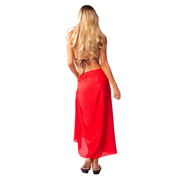 VERSATILE, HOT RED SARONG