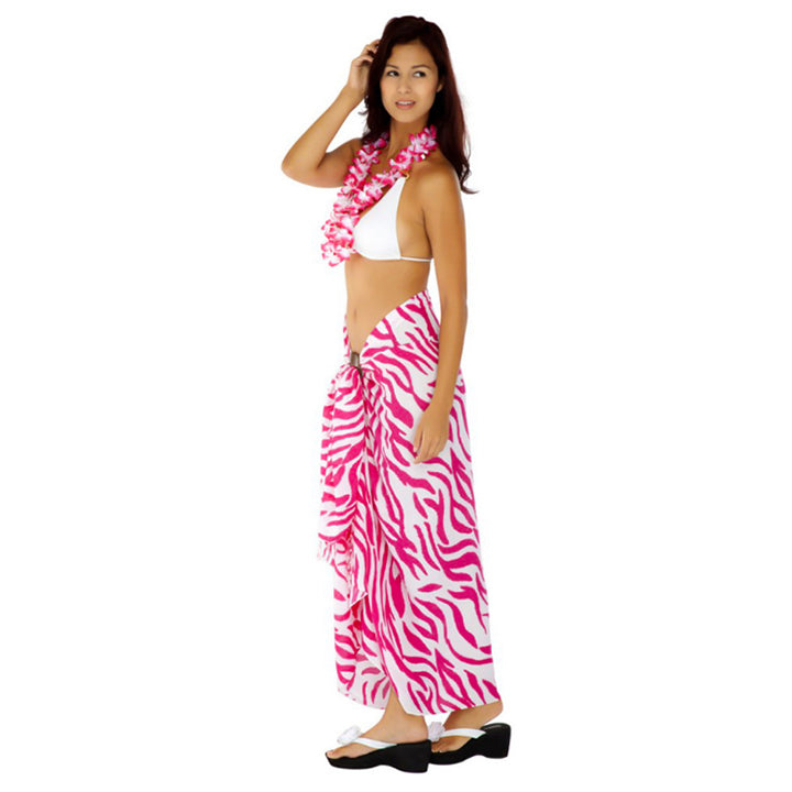 ZEBRA SARONG IN HOT PINK