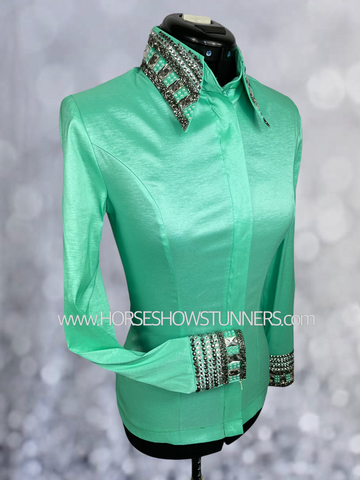 MamaMia one of a kind FITTED ELEGANCE Shirt #1266 NEW ARRIVAL