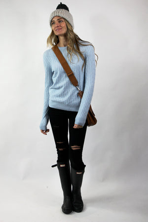 PRIM CASHMERE SWEATER Classic Cable Sweater