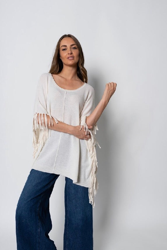 FRINGE CASHMERE POP-on