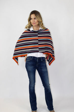 Villa Cashmere Striped Ruana
