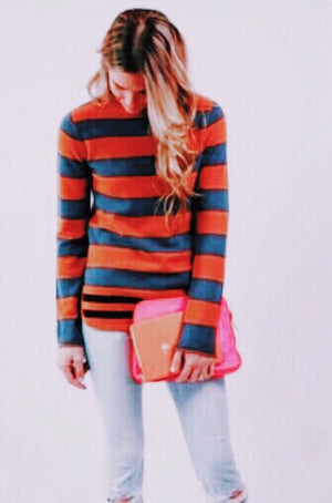 Harrison Cashmere Striped Sweater