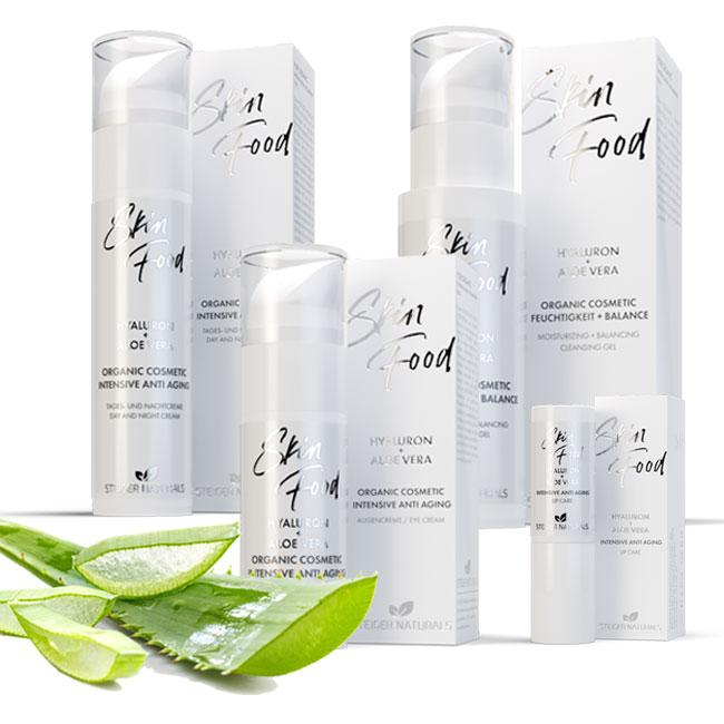 SET INTENSIVE ANTI AGING, Skin Food Hyaluron + Aloe Vera