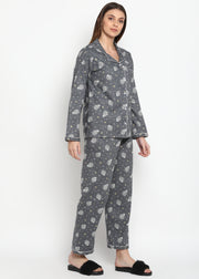 Sheep Print Long Sleeve Nightsuit