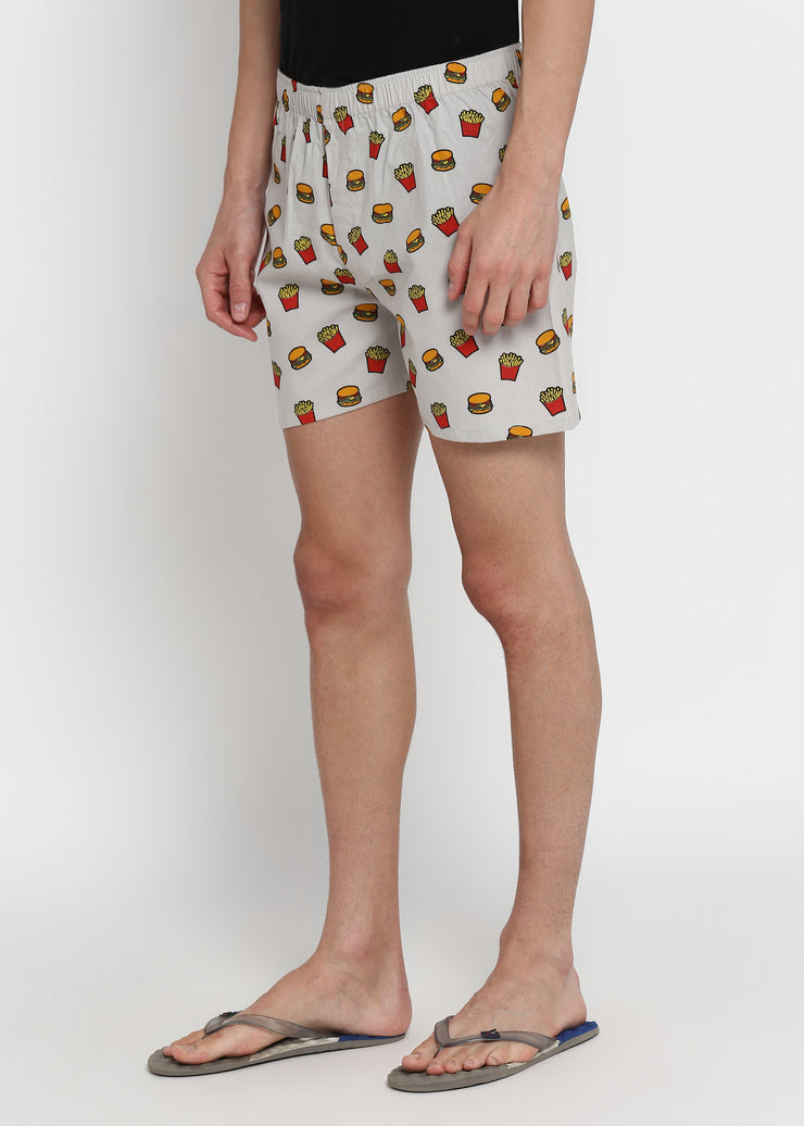 All I Want is Junk Food Print Men's Boxer
