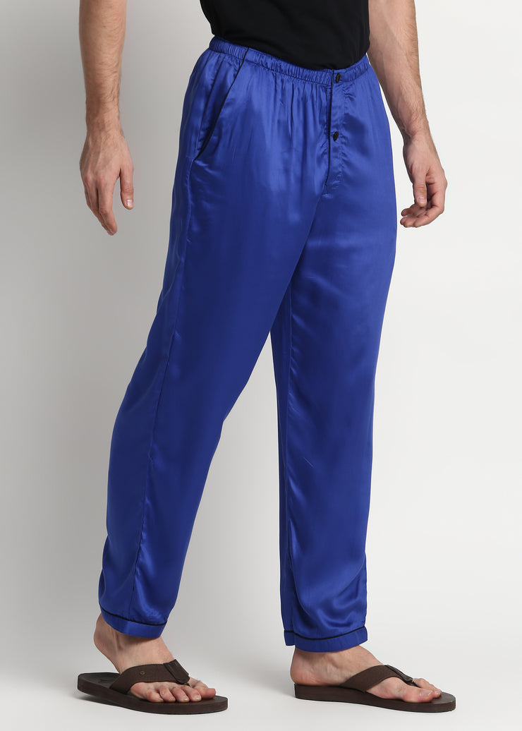 Ultra Soft Bright Blue Cotton Sateen Pyjama Bottoms