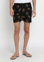 Burger Print Men's Boxer