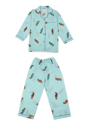 Dear Teddy Print Long Sleeve Kids Nightsuit