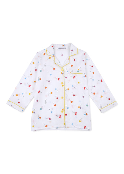 Balloon Print Long Sleeve Kids Night Suit