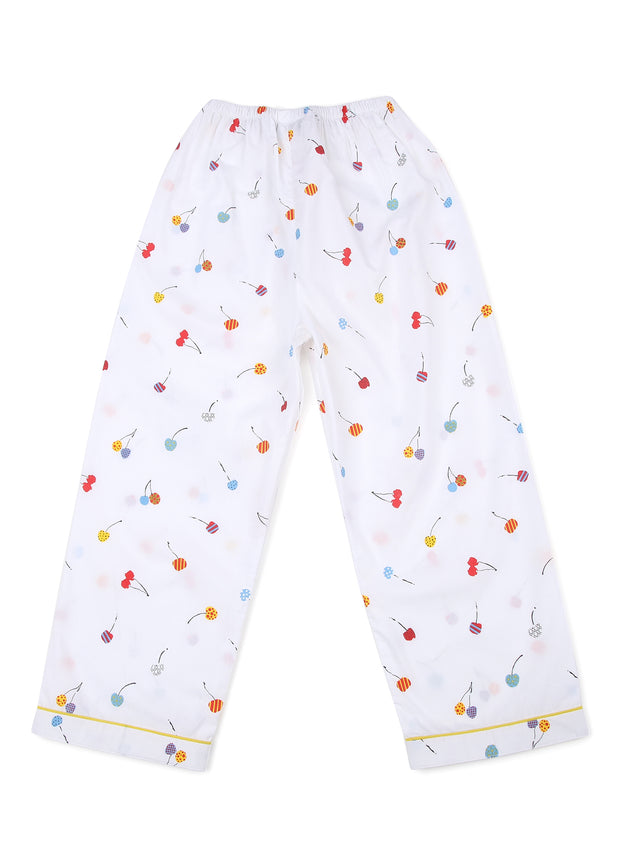 Balloon Print Long Sleeve Kids Nightsuit