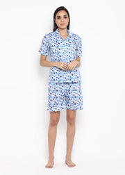 Parachute Print Shirt & Shorts Women's Set