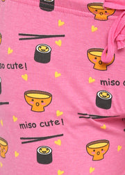 Women's Miso Cute Print Shorts