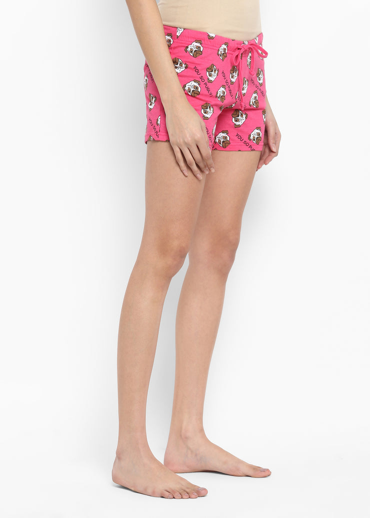 Women's Pugly Print Shorts
