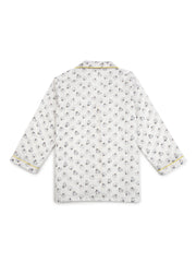 Kitty Print Long Sleeve Kids Nightsuit
