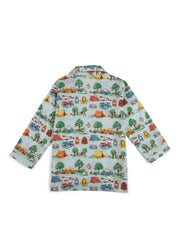 Camp Print Long Sleeve Kids Nightsuit