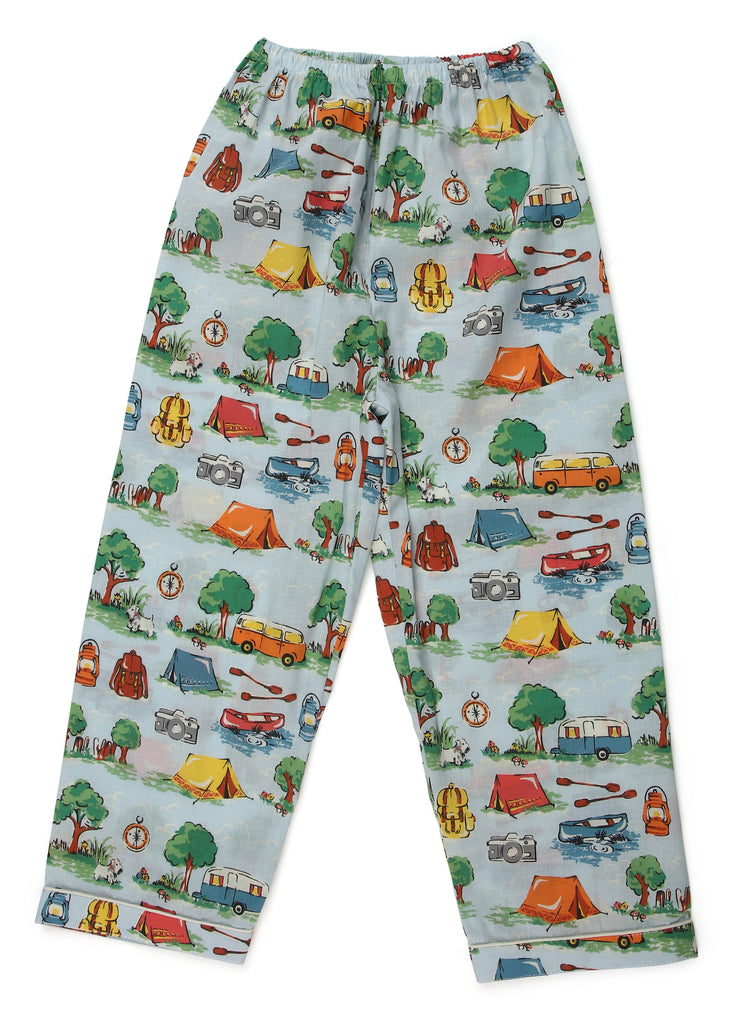 Camp Print Long Sleeve Kids Night Suit