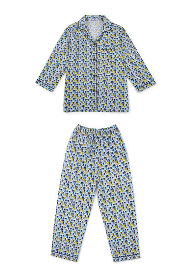 Elephant Print Long Sleeve Kids Nightsuit