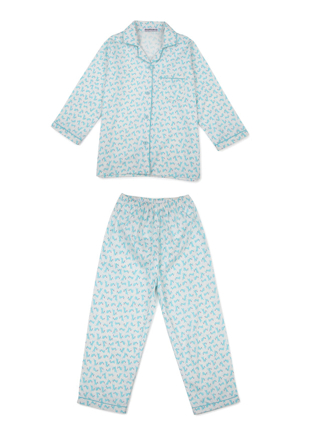 Rabbit Print Long Sleeve Kids Nightsuit