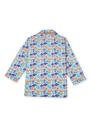 Oh Fish Print Long Sleeve Kids Night Suit