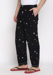 Space Print Men's Pyjama Bottoms