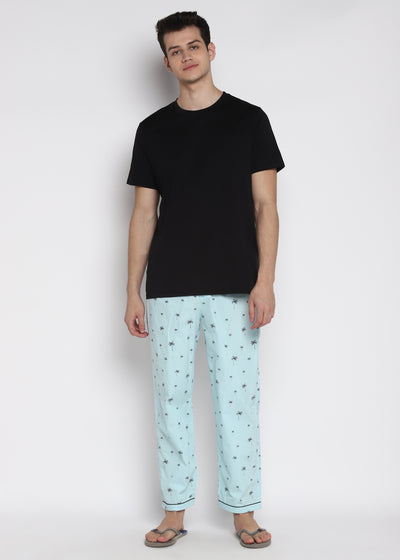 Palm Tree Print Pyjama Bottoms
