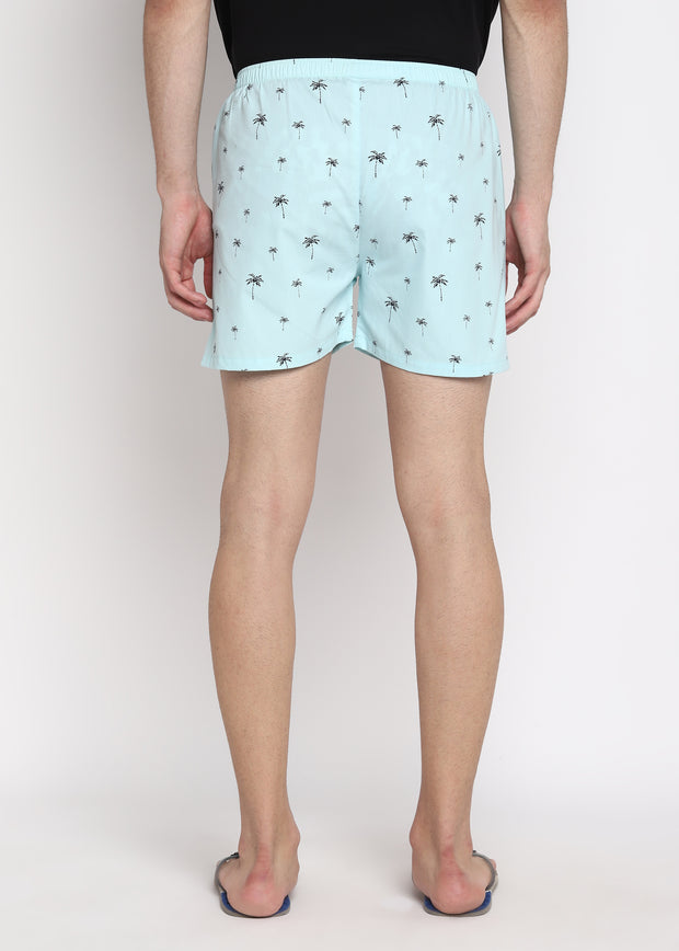 Palm Tree Print Men's Boxer