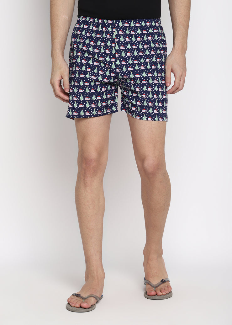 Christmas Tree Print Men's Boxer