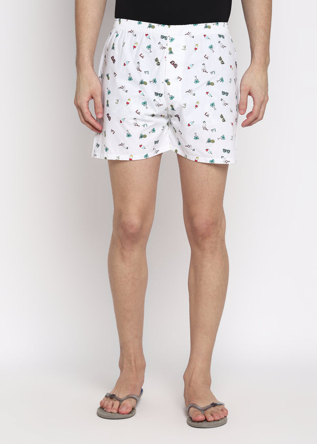Summer Holiday Print Men's Boxer