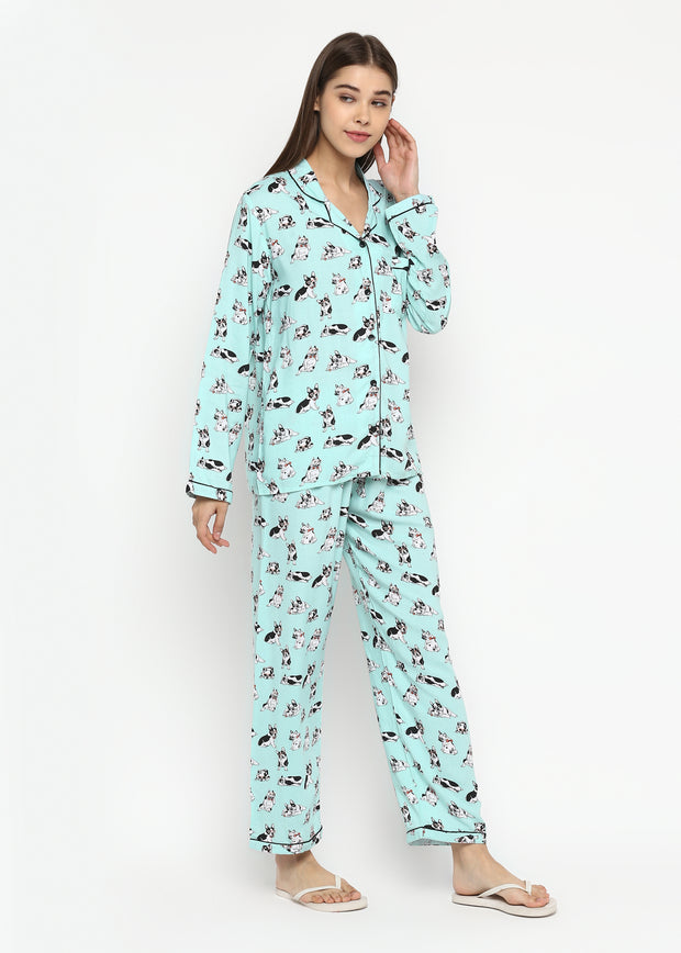 You So Pugly Print Long Sleeve Women's Night Suit