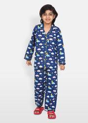 Sweet Dreams Print Long Sleeve Kids Night Suit