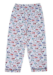 Racing Car Print Long Sleeve Kids Night Suit