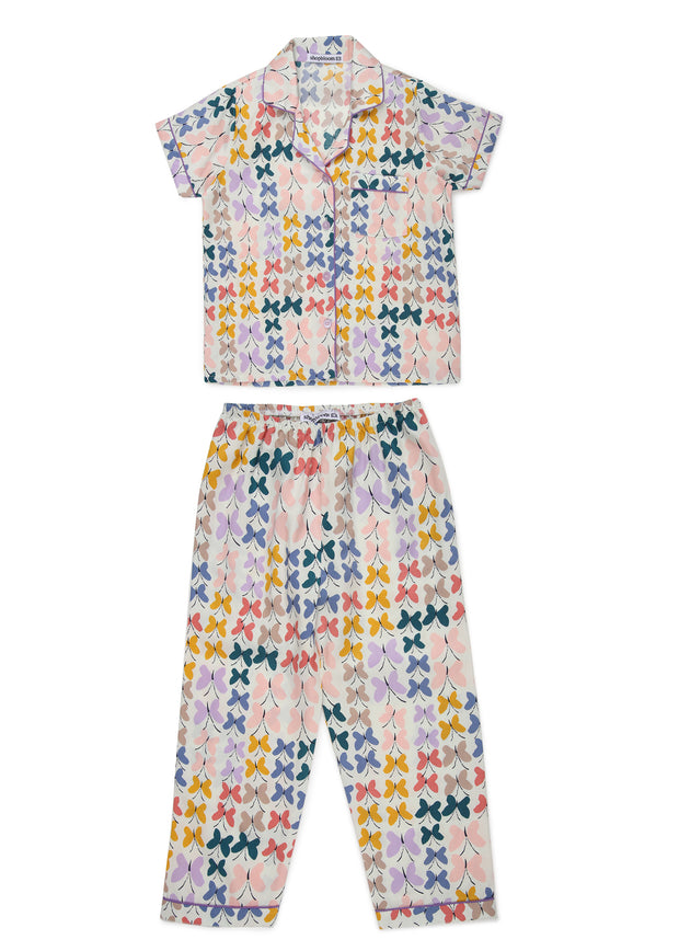 Butterfly Effect Print Short Sleeve Kids Nightsuit