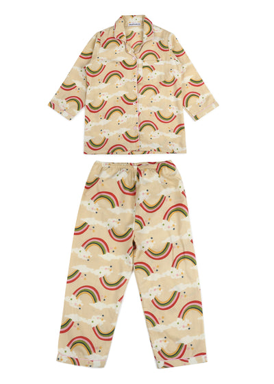 Rainbow Print Long Sleeve Kids Nightsuit